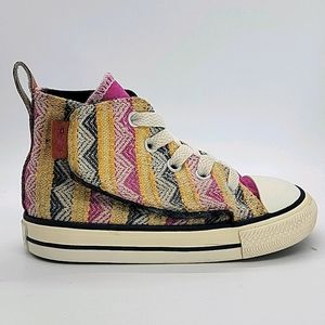 Infant Converse laced/velco Chuck Taylor Hi tops